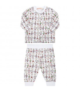 White tacksuit for baby kids