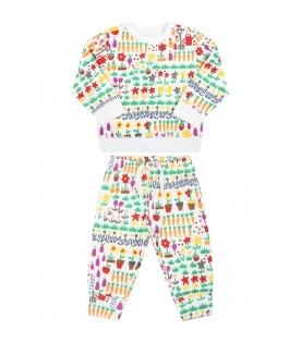 White tracksuit for baby kids