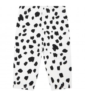White sweatshirt for baby kids with spots