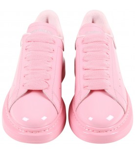 Pink sneakers for girl with logo