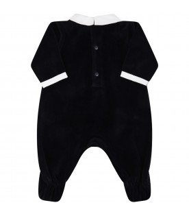 Blue babygrow for baby boy with eagle