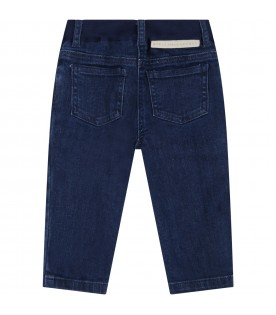 Blue jeans for babykids with daisies