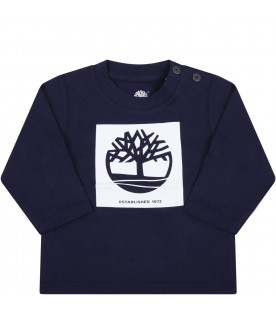 Blue t-shirt for baby boy with iconic tree