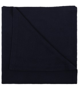 Blue blanket for baby boy with logo