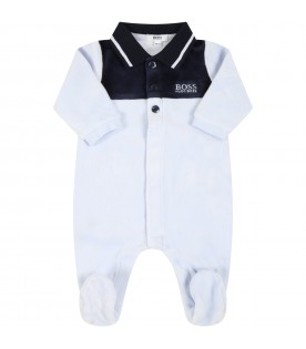 Multicolor babygrow for baby boy with logo