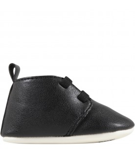Black shoes for babykids with Karl Lagerfeld
