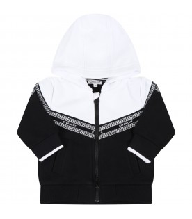 Multicolor sweatshirt for baby kids with chains