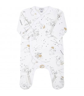 White set for baby kids with constellations