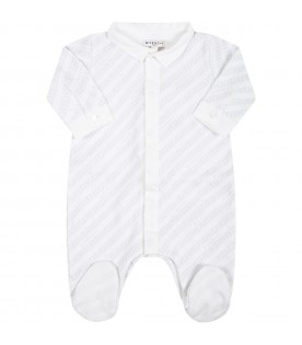 White set for baby kids with logos