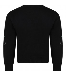 Black sweater for girl with iconic eye