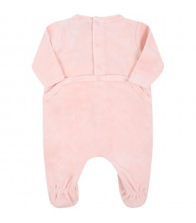 Pink babygrow for baby girl with tiger
