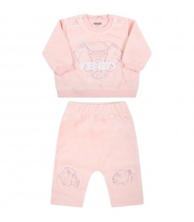 Pink tracksuit for baby girl
