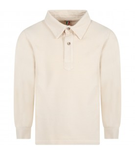 Beige ''Ippo'' polo shirt for boy