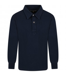 Blue ''Ippo'' polo shirt for boy