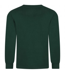 Green ''Istrice'' t-shirt for boy