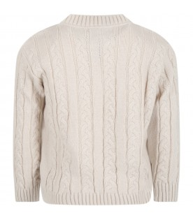 Ivory ''Mosca'' sweater for boy
