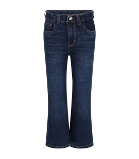 Blue ''High rise'' jeans for girl