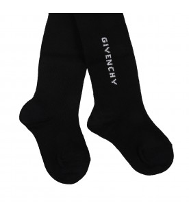Black tights for baby girl