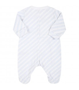 White babygrow for baby boy with logos