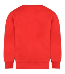 Red sweatshirt for kids with logo
