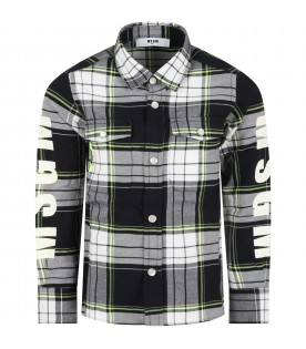 Multicolor shirt for boy with logos