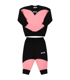 Multicolor tracksuit for baby girl