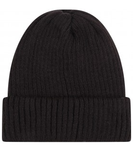 Black hat for boy with shoe
