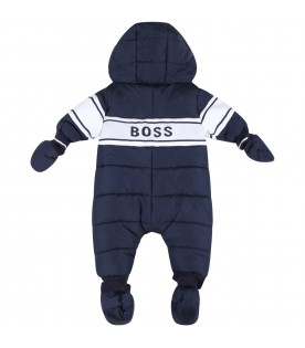 Blue overall for baby boy