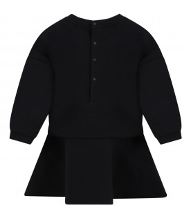 Black dress for bby girl with logo