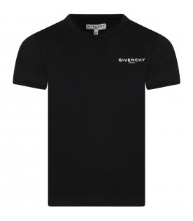 Black t-shirt for kids with logo