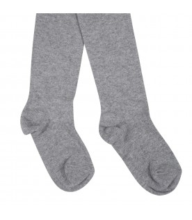 Grey tights for girl