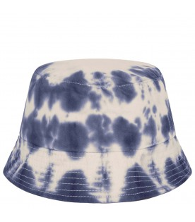 Multicolor bucket hat for kids with red logo