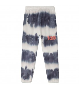 Multicolor sweatpants for kids with logo