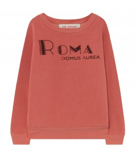 Red sweatshirt for kids with red writing