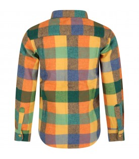 Multicolor ''Roberto'' shirt for kids with check