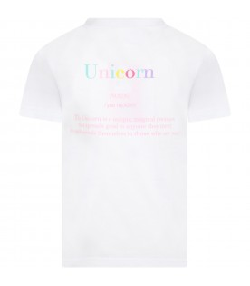 White t-shirt for girl with writitng
