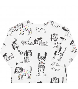 White t-shirt for baby kids with dalmatian