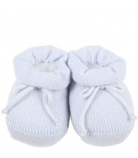 Light blue bootee for baby boy