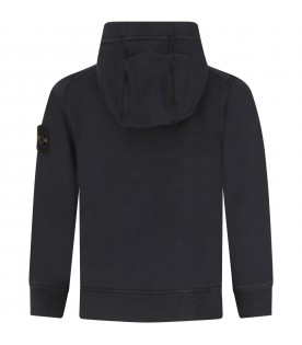 Black sweatshirt for boy with iconic patch
