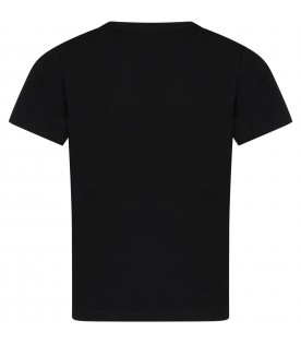 Black t-shirt for girl with logo