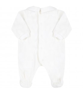 White babygrow for baby kids with logo