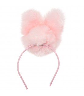 Hairband with pink rabbit