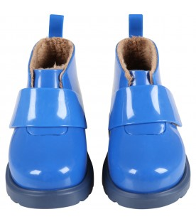 Blue boots for boy