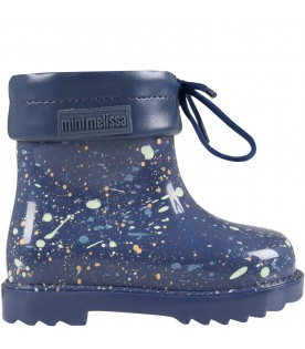 Blue boots for kids with spots