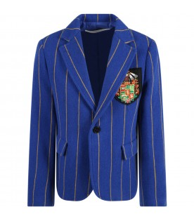 Multicolor jacket for girl with patch