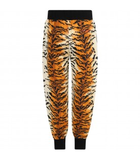 Multicolor trouser for girl with logo