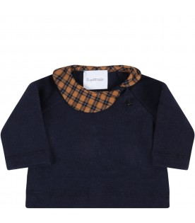 Blue suit for babykids with check