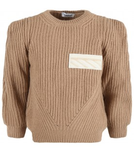 Beige sweater for girl