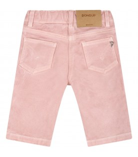 Pink jeans for baby girl