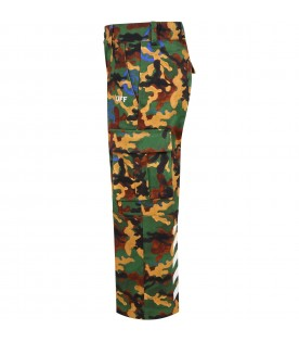 Multicolor trouser for boy with logos